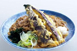 吉そば季節の天ぷら「なす天」始めました。